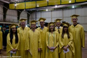 Group of honor students at commencement