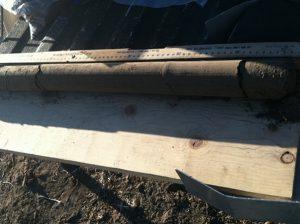 photo of a soil core