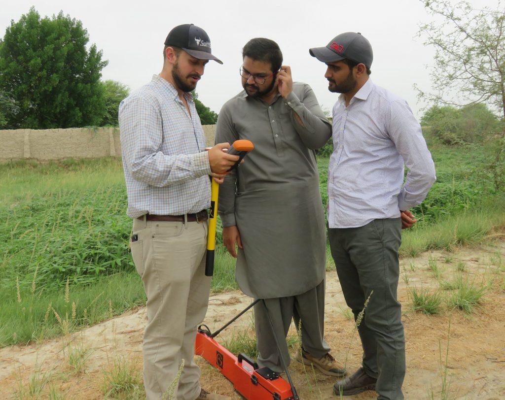 AJ Brown in field during Pakistan visit