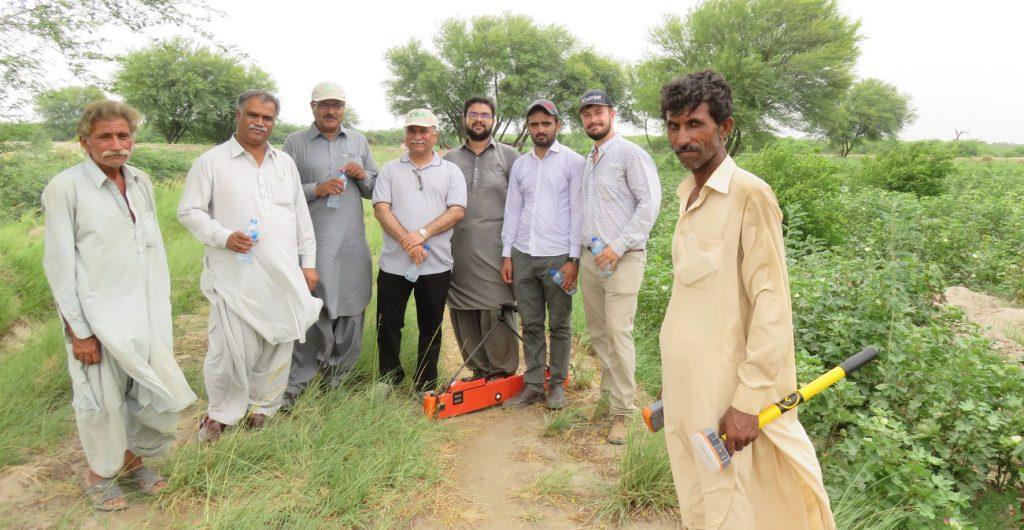 AJ Brown with Pakistan group