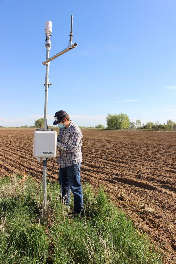 AJ Brown at field monitoring station