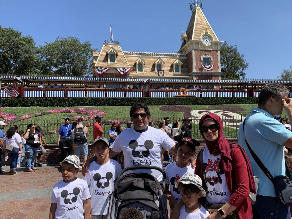Antisar with family at Disney