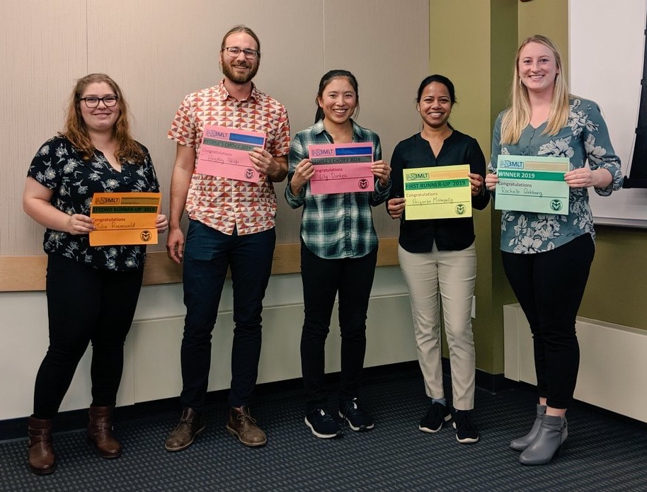 SOCR/BSPM grad student winners of department 3 minute lightening talks