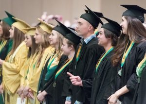 graduates at ceremony