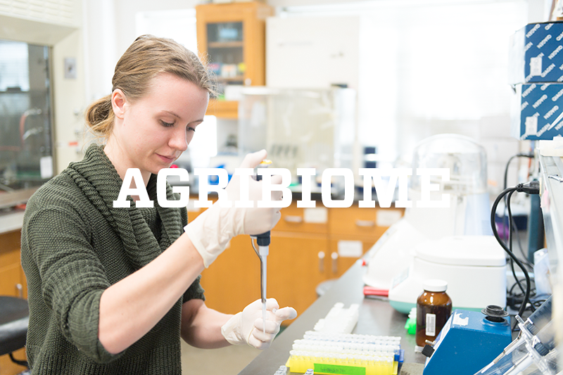 AGRIBIOME-- testing in a lab